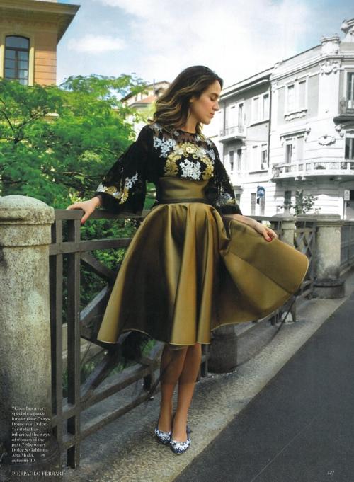 Коко Брандолини д'Адда в Dolce&Gabbana Alta Moda