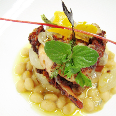 Блюдо Il Convivio Troiani, голубиный пастис