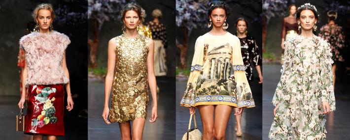 Женская коллекция весна лето 2014 от dolce