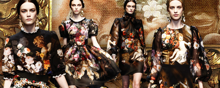 Dolce&Gabbana FW13, барокко
