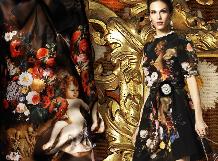 Dolce&Gabbana FW13, барокко и ангелы