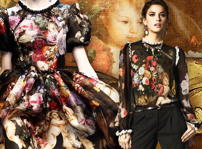Dolce&Gabbana FW13, барокко и херувимы