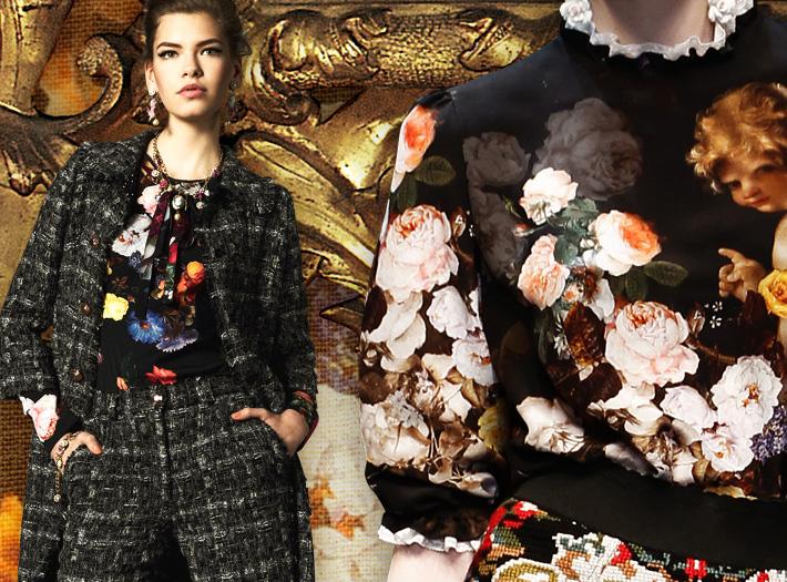 Dolce&Gabbana FW13, барокко и цветы