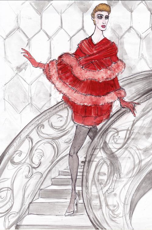 fellini-film-actresses-in-dolce-and-gabbana-fashion-illustrations-by-lucio-palmieri-giulietta-degli-spiriti-masina