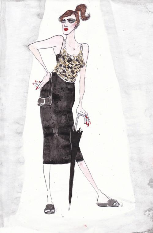 fellini-film-actresses-in-dolce-and-gabbana-fashion-illustrations-by-lucio-palmieri-le-notti-di-cabiria-giulietta-masina