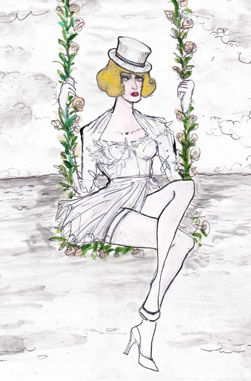 fellini-film-actresses-in-dolce-and-gabbana-fashion-illustrations-by-lucio-palmieri-giulietta-degli-spiriti-sandra-milo