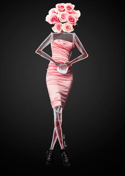 Dolce&Gabbana FW13, розовое платье без бретелек