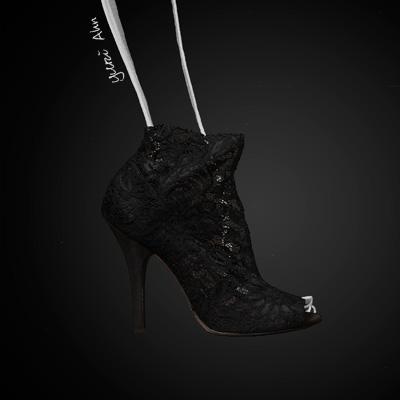 Dolce&Gabbana FW13, черные кружевные туфли