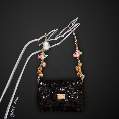 Dolce&Gabbana FW13, черная сумка с пайетками