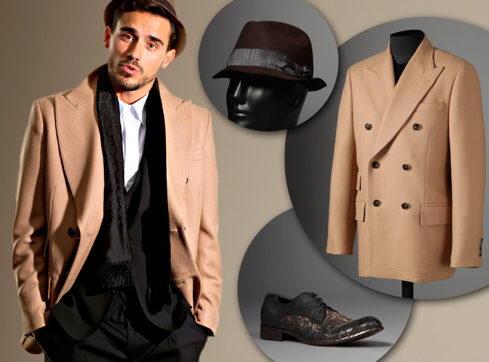 Dolce&Gabbana FW13, бежевое пальто