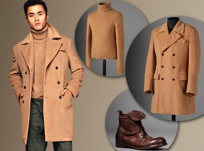 Dolce&Gabbana FW13, бежевое двубортное пальто