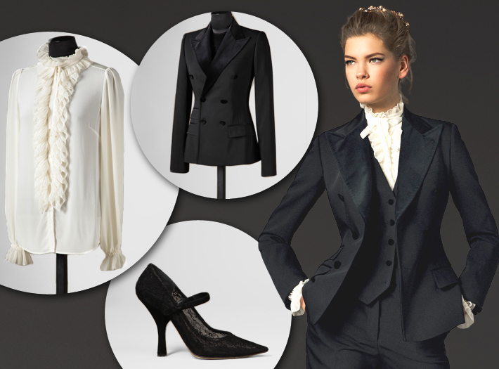 Вечерняя одежда Dolce&Gabbana FW13, смокинг