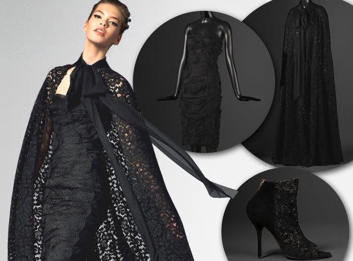 Вечерняя одежда Dolce&Gabbana FW13, накидка