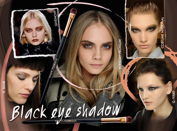 Тренды в макияже сезона FW13: темные тени