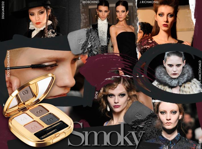 Тренды в макияже сезона FW13: smoky eyes