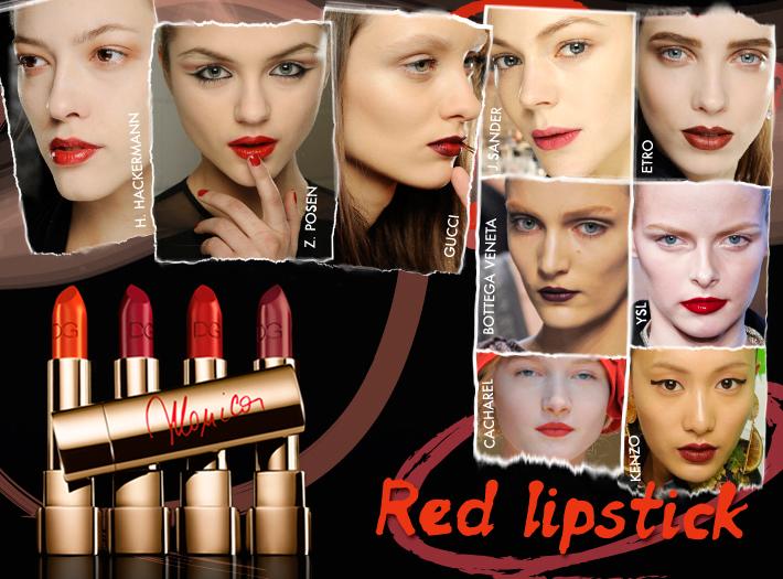 Тренды в макияже сезона FW13: красная помада