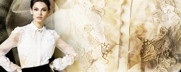 Dolce&Gabbana FW13, классические блузки