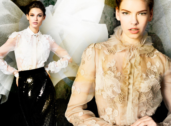 Dolce&Gabbana FW13, блузки