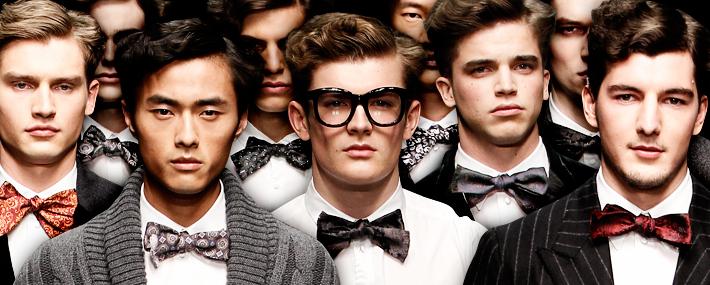 Dolce&Gabbana FW13, галстуки-бабочки