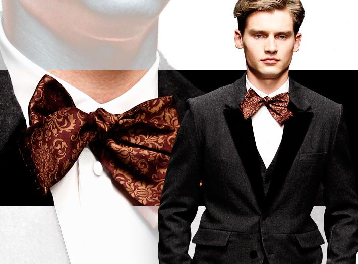 Dolce&Gabbana FW13, красный галстук-бабочка