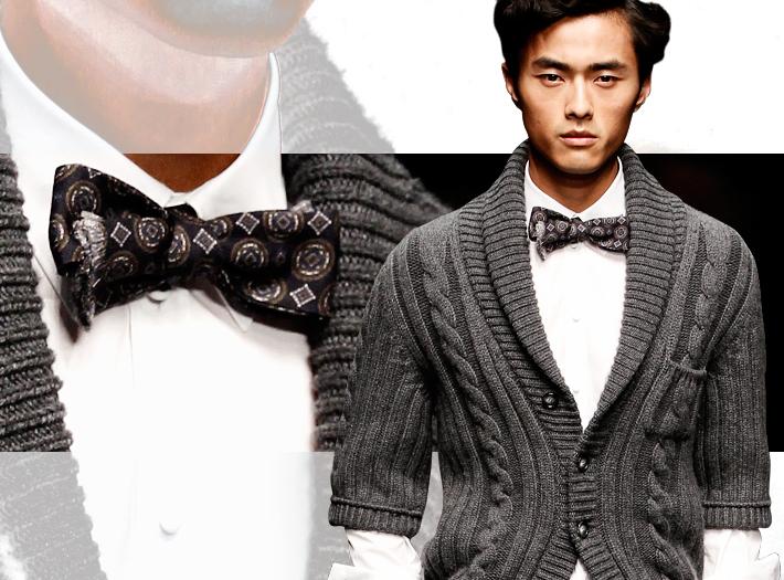 Dolce&Gabbana FW13, маленький галстук-бабочка