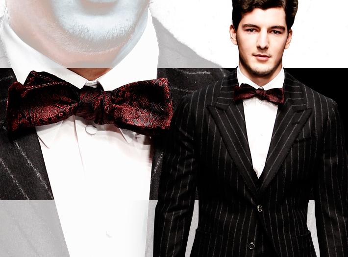 Dolce&Gabbana FW13, бордовый галстук-бабочка