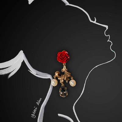 Dolce&Gabbana FW13, серьги с розами и жемчугом