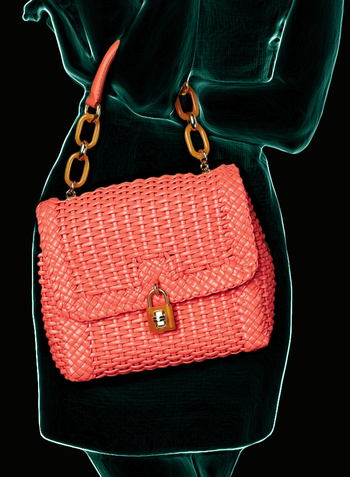spring-summer-2014-accessory-trends-dolce-and-gabbana-coral-woven-leather-dolce-bag