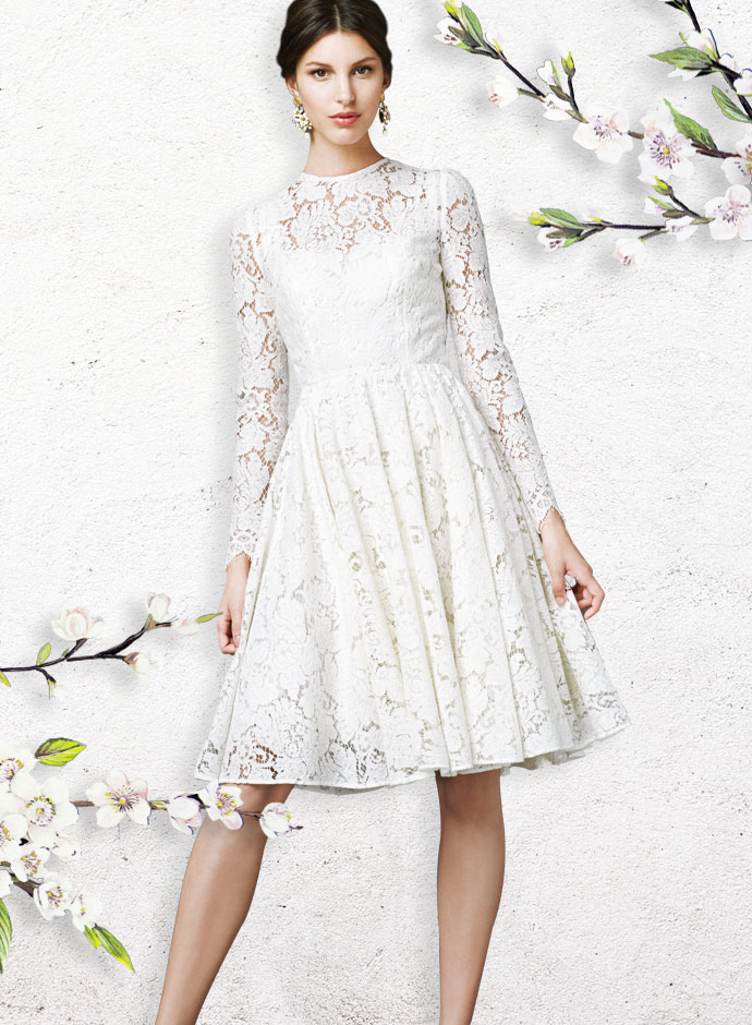 best-gift-ideas-for-girlfriend-for-white-day-2014-in-japan-white-lace-dress-dolce-and-gabbana-ss-2014