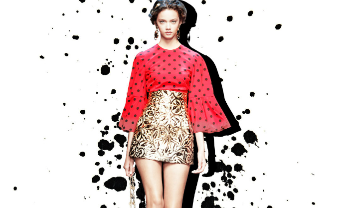 dolce-and-gabbana-polka-dot-dresses-for-spring-summer-2014-polka-dots-print-red-top