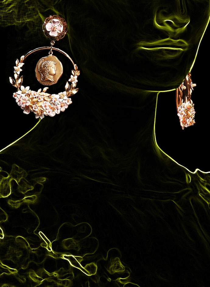 spring-summer-2014-accessory-trends-dolce-and-gabbana-gold-tone-greek-inspired-coin-and-enamelled-almond-flower-hoop-earrings