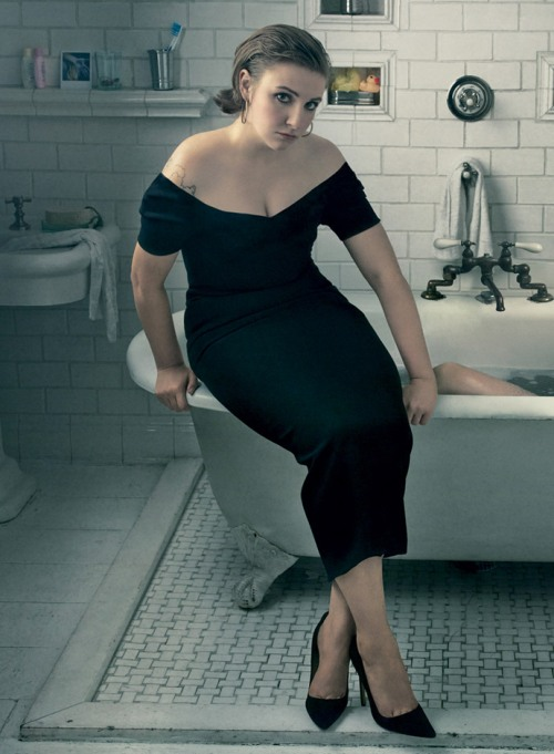 dolce-and-gabbana-black-dress-is-the-must-have-this-spring-summer-2014-vogue-us-feb-14-lena-dunham