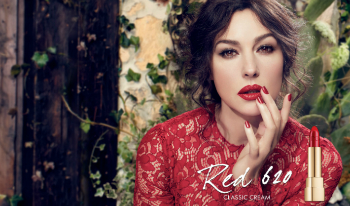 Monica-bellucci-in-Dolce-and-gabbana-makeup-Classic-Cream-Lipstick-advertising-campaign-tutorial