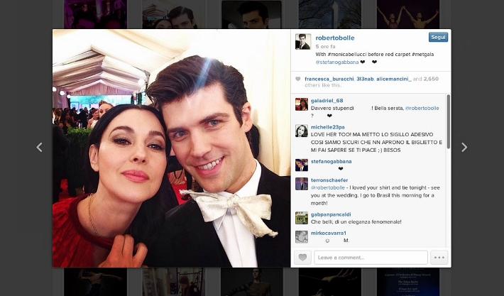 best-celebrity-instagram-pictures-met-gala-2014-dolce-and-gabbana-roberto-bolle-and-monica-bellucci (710x417)