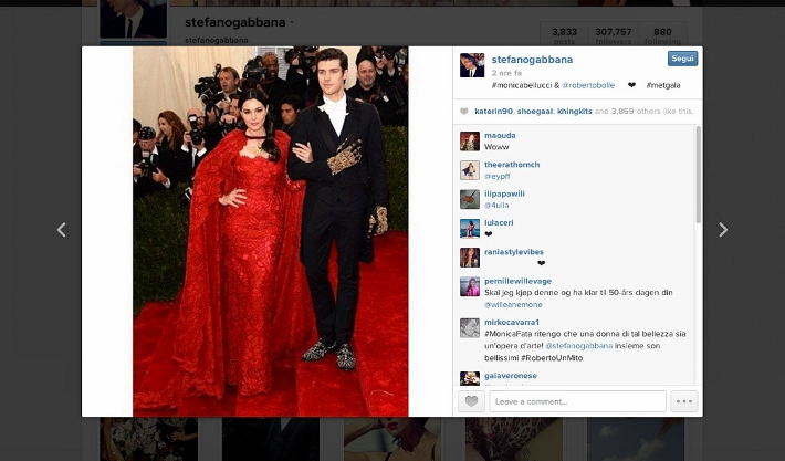 best-celebrity-instagram-pictures-met-gala-2014-dolce-and-gabbana-monica-bellucci-and-roberto-bolle (710x417)