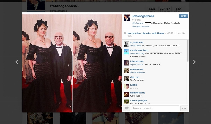 best-celebrity-instagram-pictures-met-gala-2014-dolce-and-gabbana-kate-upton-and-domenico-dolce (710x417)