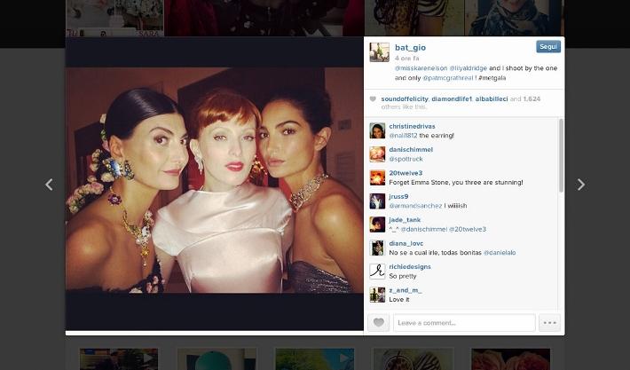 best-celebrity-instagram-pictures-met-gala-2014-dolce-and-gabbana-giovanna-battaglia-lily-aldrisge-karen-elson (710x417)
