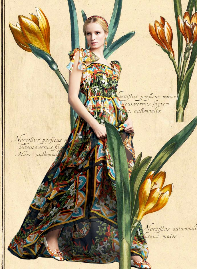 look-of-the-day-dolce-and-gabbana-spring-summer-2014-womenswear-sicilian-print-chiffon-floor-length-dress