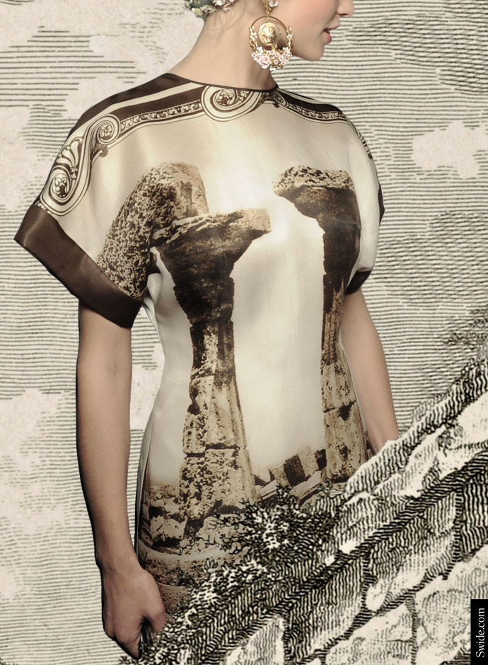 dolce-and-gabbana-spring-summer-2014-womens-collection-ancient-greek-temple-prints-dress-new