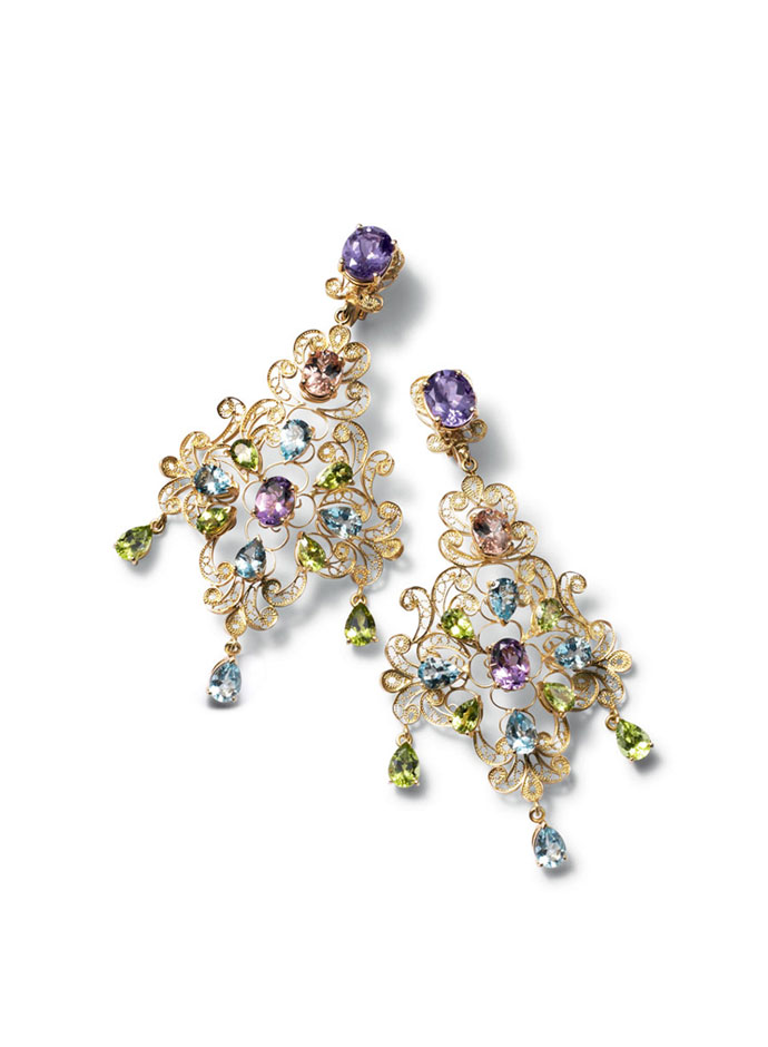 dolce-and-gabbana-jewellery-spring-summer-2014-gold-filigree-and-multi-coloured-gem-collection-earrings
