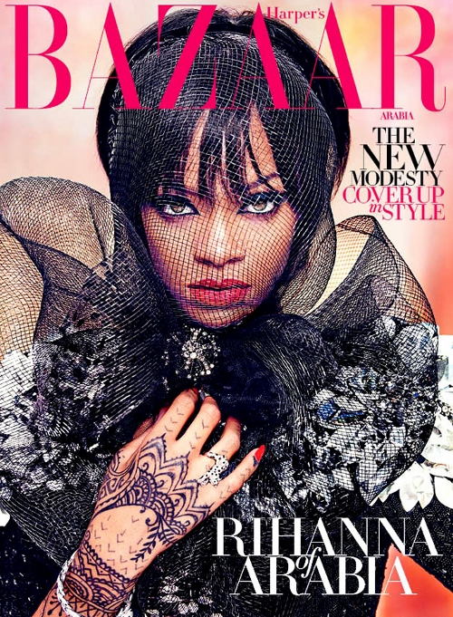 rihanna-in-dolce-and-gabbana-dress-harpers-bazaar-arabia-july-august-2014-cover (500x681)