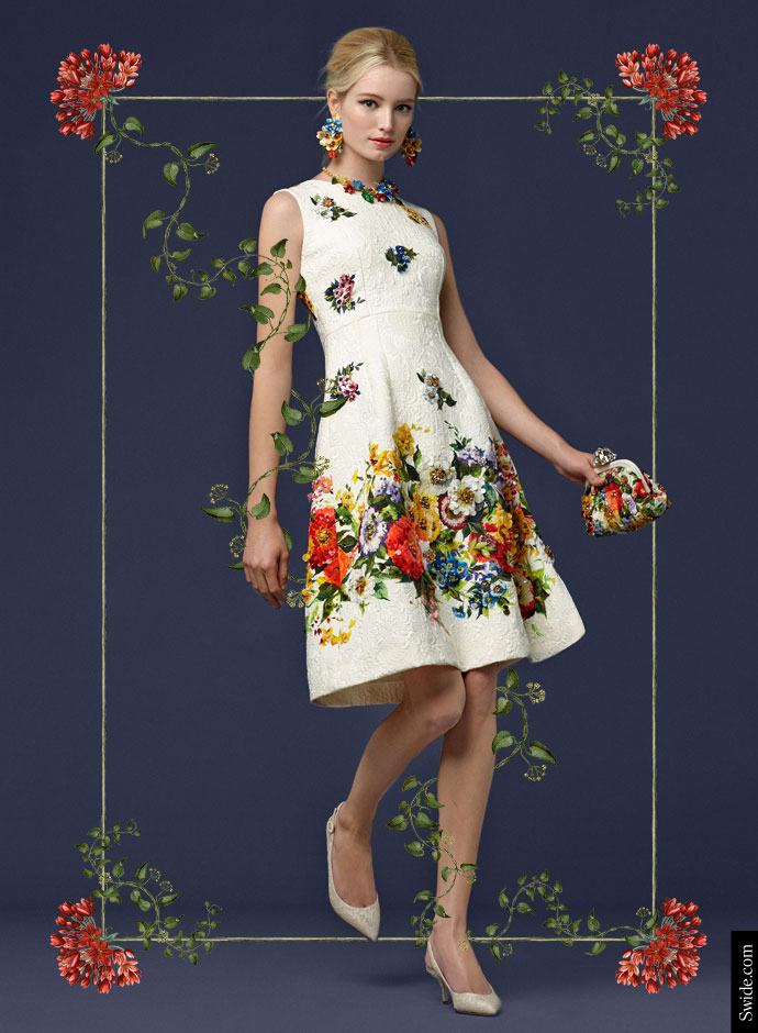 look-of-the-day-dolce-and-gabbana-fall-2014-pre-collection-womenswear-floral-print-embroidered-brocade-dress