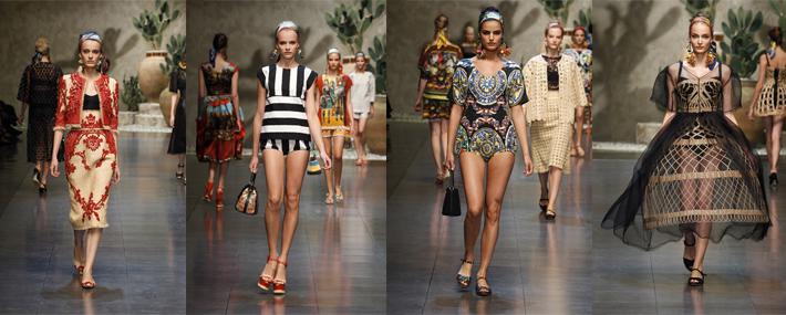 Образы с показа женской коллекции Dolce&Gabbana SS13