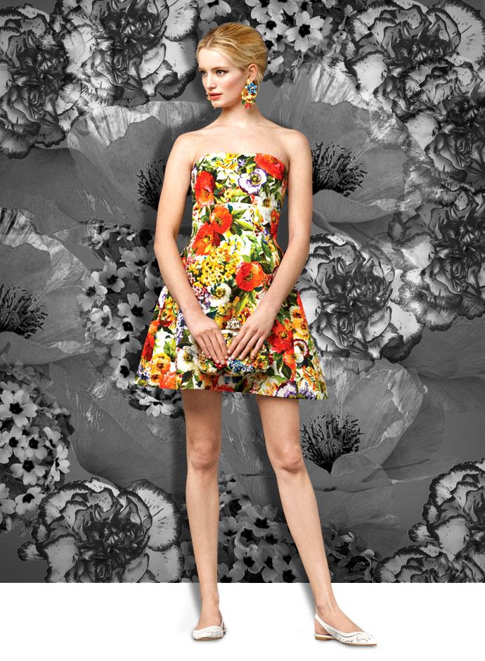 summer-party-looks-from-the-dolce-and-gabbana-fall-winter-2014-15-collection-floral-print-mini-dress