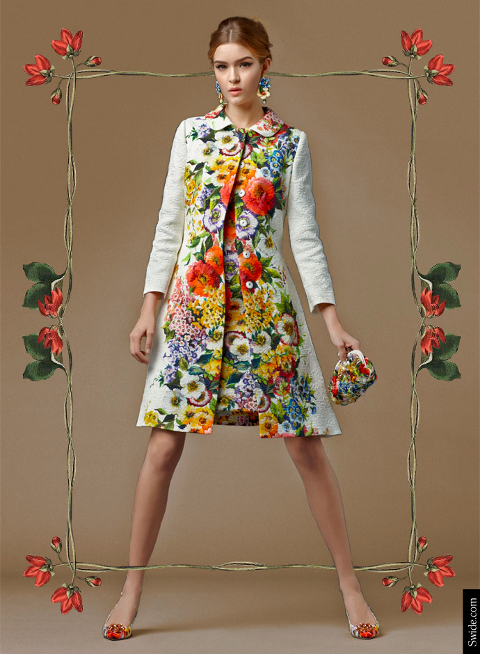 look-of-the-day-dolce-and-gabbana-fall-2014-pre-collection-womenswear-floral-print-brocade-matching-coat-and-dress