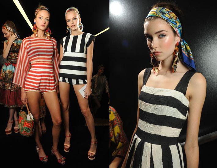Женская коллекция Dolce&Gabbana SS13, полосы