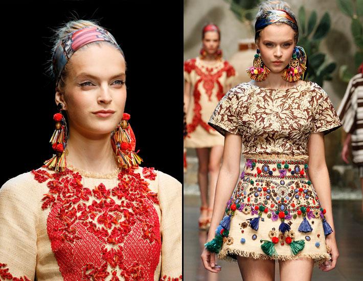 Женская коллекция Dolce&Gabbana SS13, вышивка