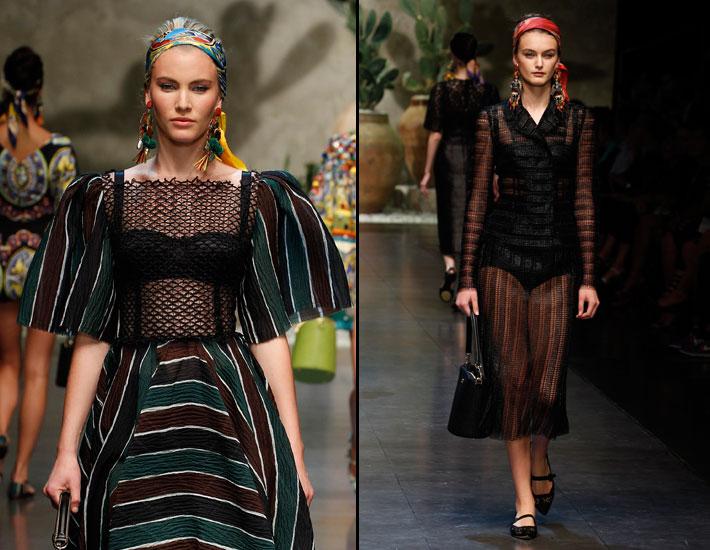 Женская коллекция Dolce&Gabbana SS13, органза