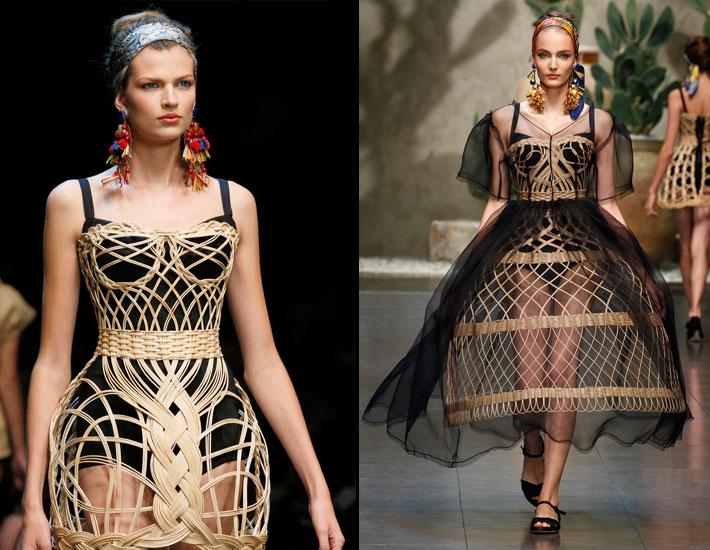 Женская коллекция Dolce&Gabbana SS13, плетение