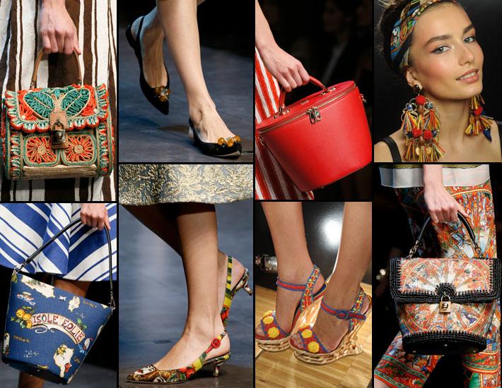 Женская коллекция Dolce&Gabbana SS13, аксессуары